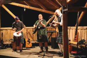 Session in der Hudson Bay bei den Highland Games 2017 in Pullman City